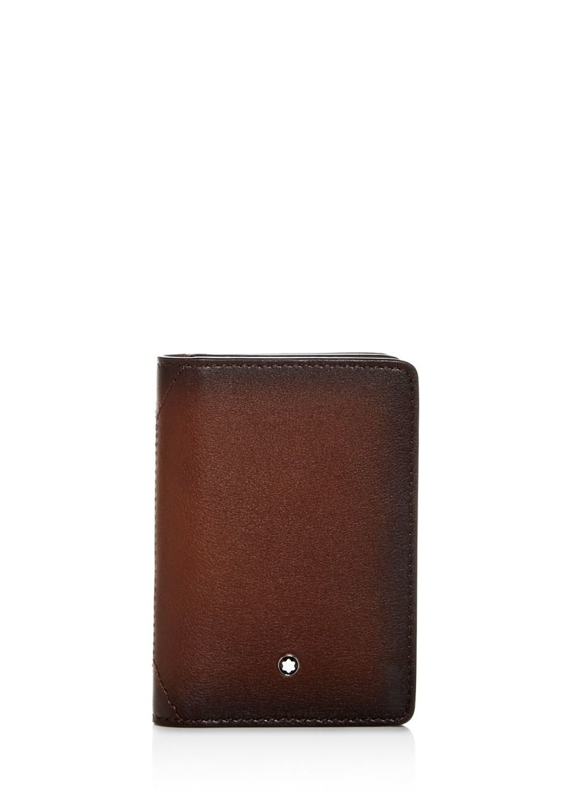 Montblanc Meisterst�ck Sfumato Burnished Leather Bi-Fold Card Holder
