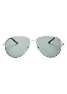 Montblanc Men's Brow Bar Aviator Sunglasses, 61mm