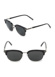Montblanc Silvertone 52MM Professor Sunglasses