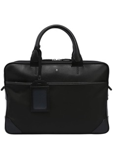 Montblanc Slim Sartorial Jet Leather & Nylon Case