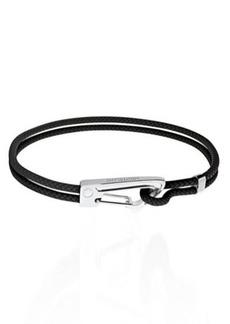 Montblanc Steel & Braided Leather Bracelet
