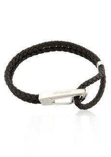 Montblanc Steel & Leather Bracelet