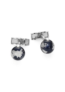 Montblanc Sterling Silver Iconic Globe Cuff Links