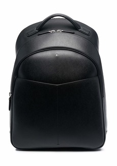 Montblanc zip-up leather backpack