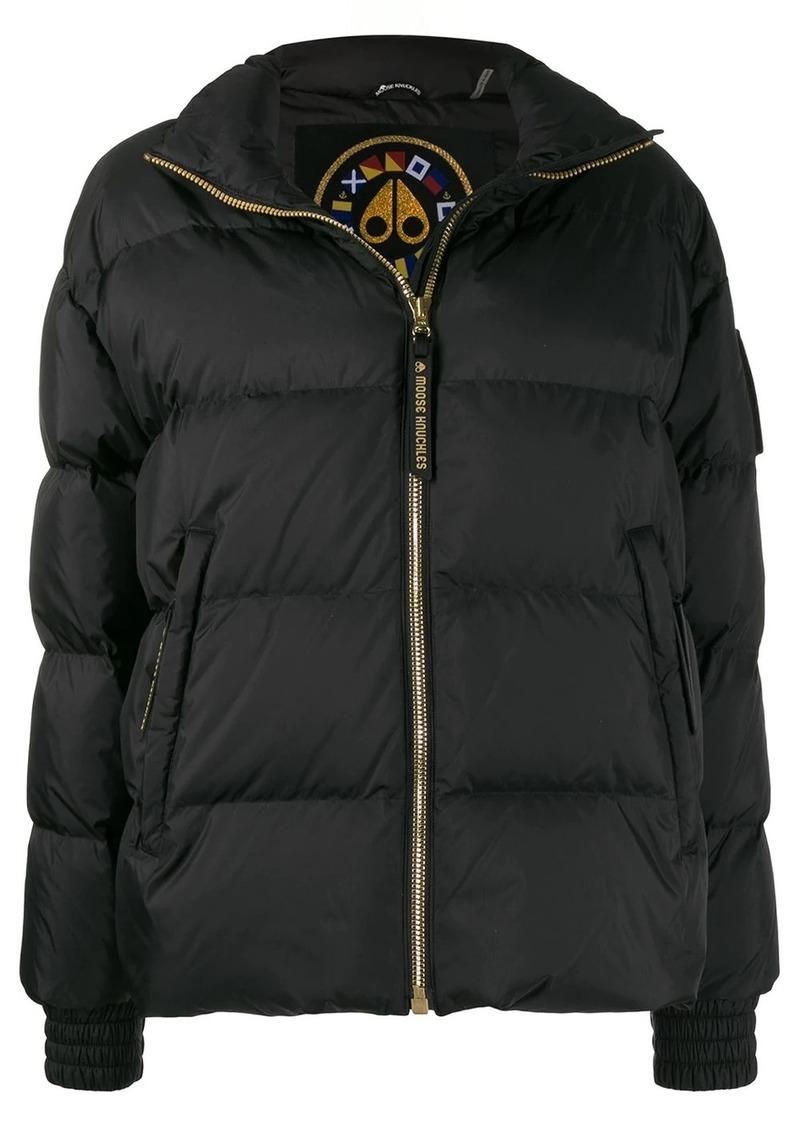 Moose Knuckles Ellie panelled puffer jacket