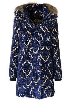 Moose Knuckles embroidered padded midi coat