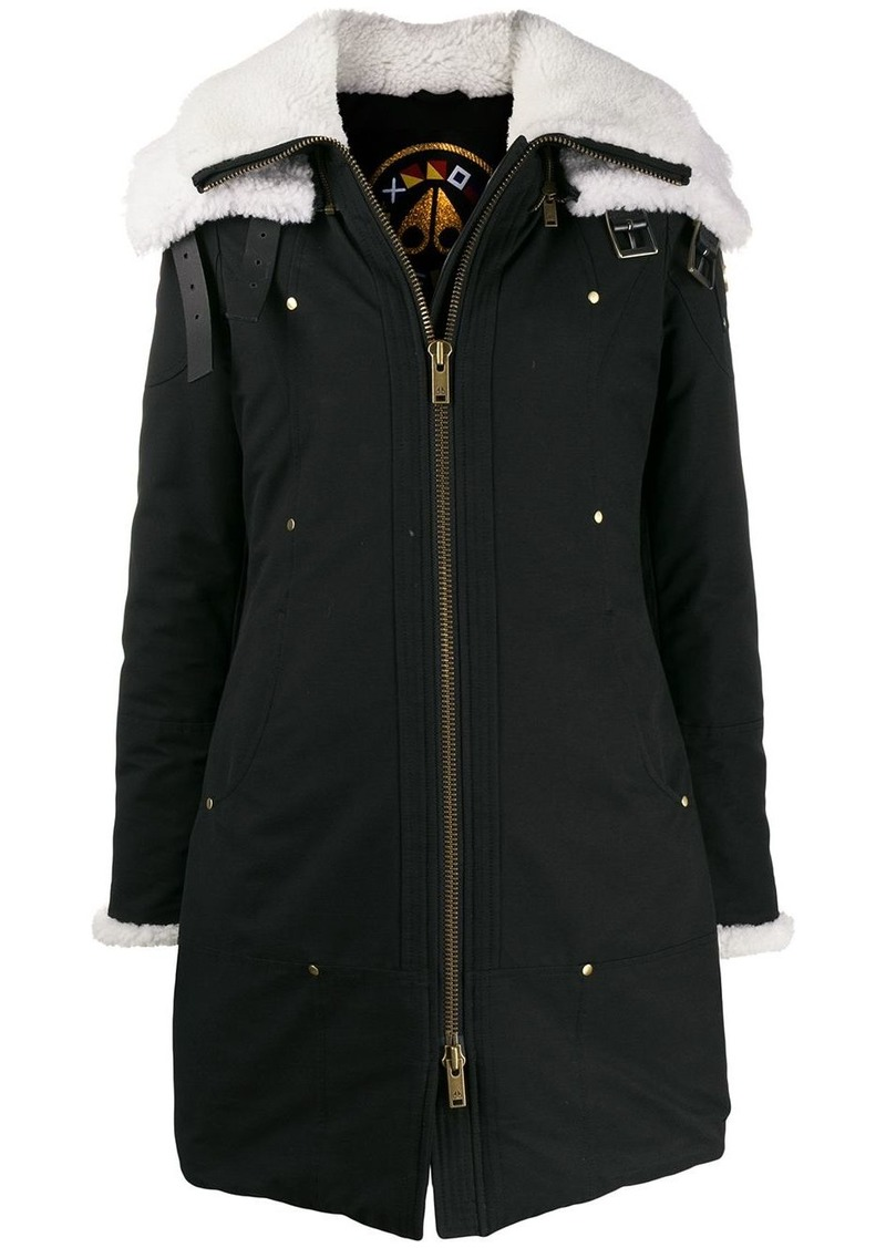 Moose Knuckles faux-shearling detailed parka