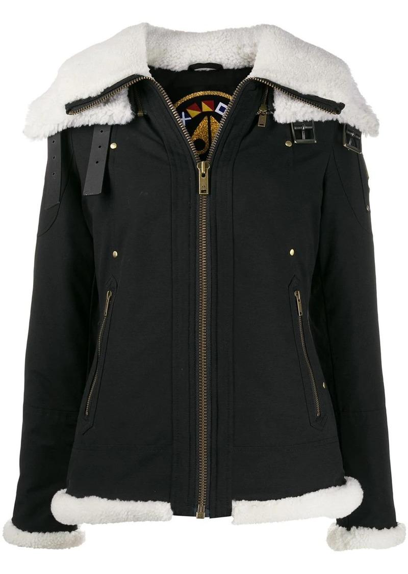 Moose Knuckles faux-shearling zipped jacket