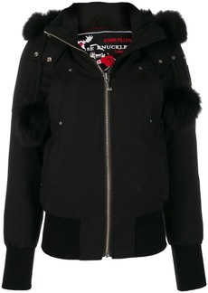 Moose Knuckles fur hooded jacket