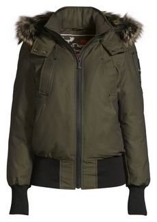 Moose Knuckles Glenbush Fox Fur-Trim Bomber