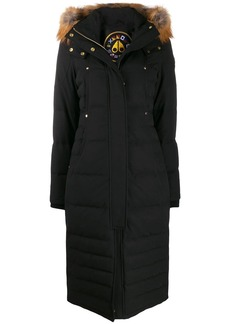 Moose Knuckles hooded padded midi coat