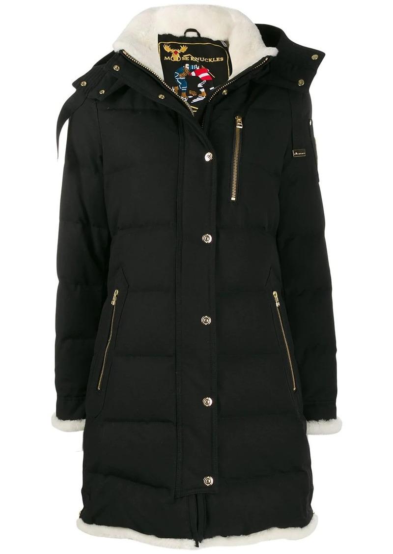 Moose Knuckles hooded puffer jacket