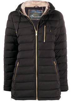 Moose Knuckles hooded ribbed coat