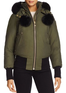 Moose Knuckles Aylsham Fox Fur Down Bomber Jacket - 100% Exclusive