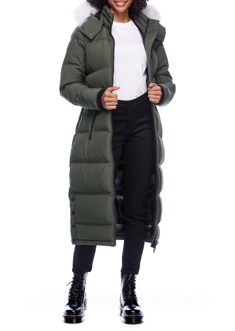 Moose Knuckles Fox Valley Genuine Fox Fur Trim Down Coat