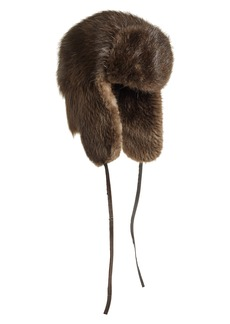 Moose Knuckles Genuine Beaver Fur Trapper Hat