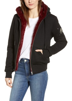 Moose Knuckles Her Bunny Faux Fur Lined Jacket