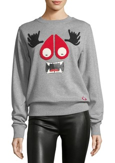 Moose Knuckles Munster Long-Sleeve Jewel-Neck Cotton Sweatshirt
