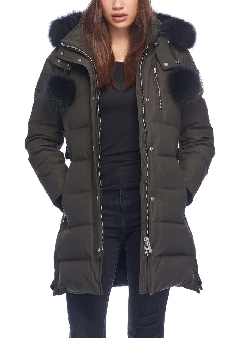 Moose Knuckles Paddockwood Genuine Fox Fur Trim Down Parka