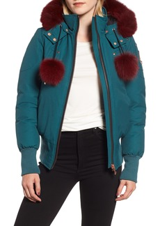 Moose Knuckles Yorkdale Genuine Fox Fur Trim Down Jacket
