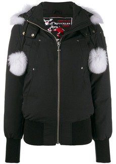 Moose Knuckles pom pom parka coat