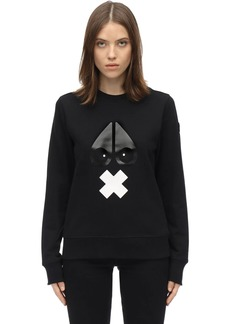 Moose Knuckles X-marks Cotton Jersey Sweatshirt