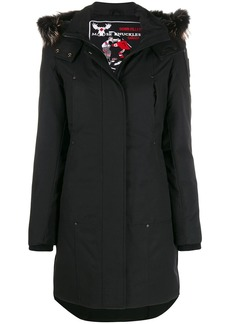 Moose Knuckles zip-up parka coat