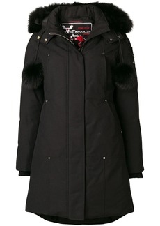 Moose Knuckles zipped fur-trim coat