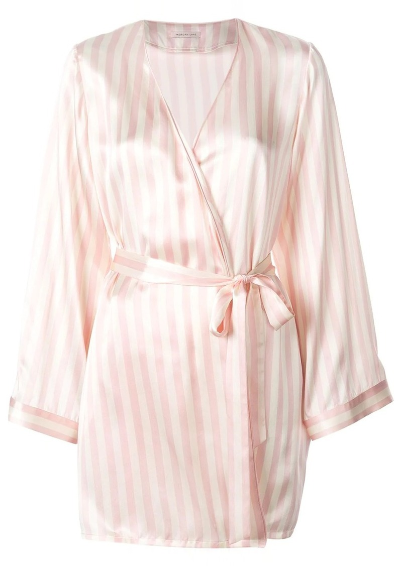 Morgan Lane Langley silk striped print robe