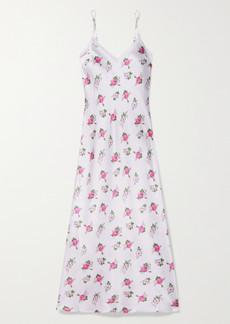 Morgan Lane Loveshackfancy Stella Floral-print Silk-blend Satin Chemise