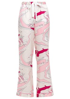 Morgan Lane Woman Chantal Printed Charmeuse Pajama Pants Baby Pink