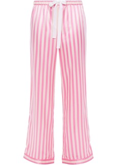 Morgan Lane Woman Chantal Striped Charmeuse Pajama Pants Baby Pink