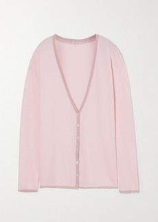 Morgan Lane Pippa Lurex-trimmed Knitted Cardigan