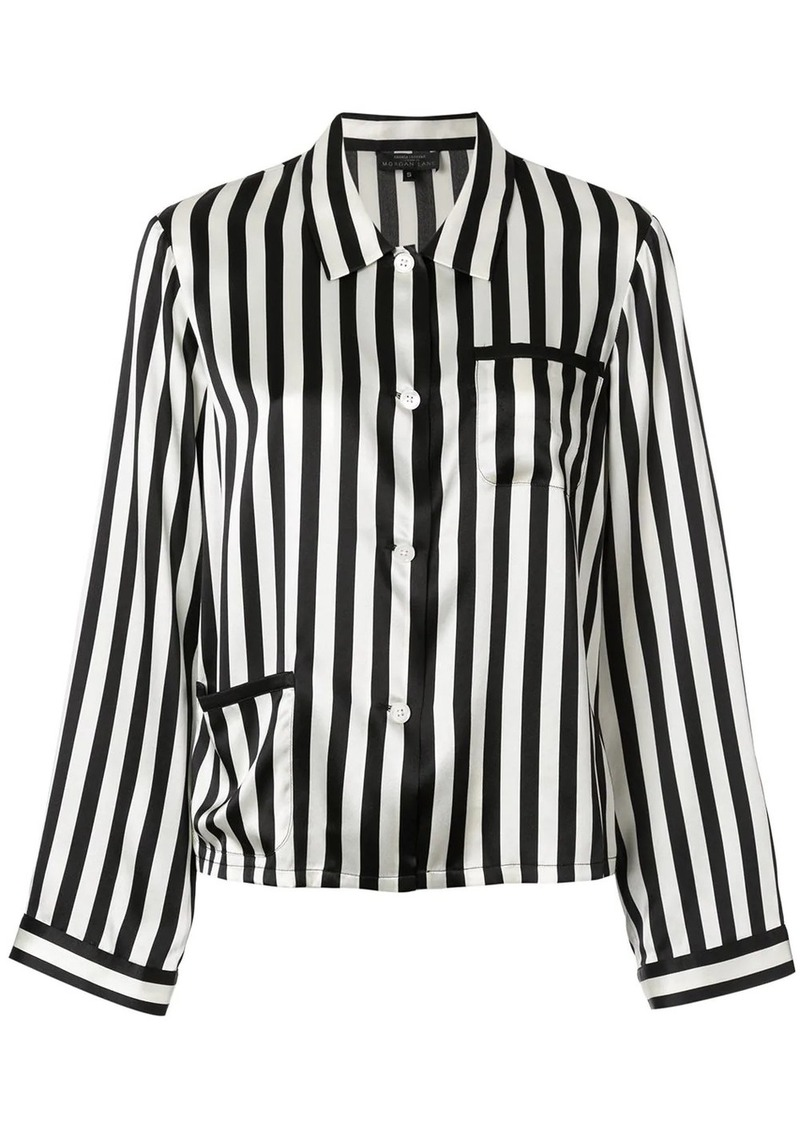 Morgan Lane Ruthie striped pyjama shirt