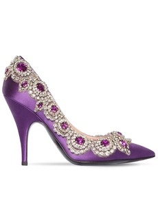 Moschino 100mm Embellished Satin Pumps