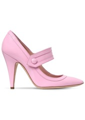 Moschino 110mm Patent Leather Mary Jane Pumps