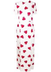 Moschino 2000's heart pattern maxi dress