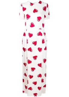 Moschino 2000's heart pattern maxi dress