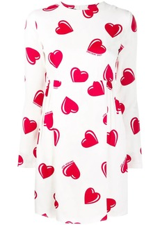 Moschino 2000's heart printed mini dress