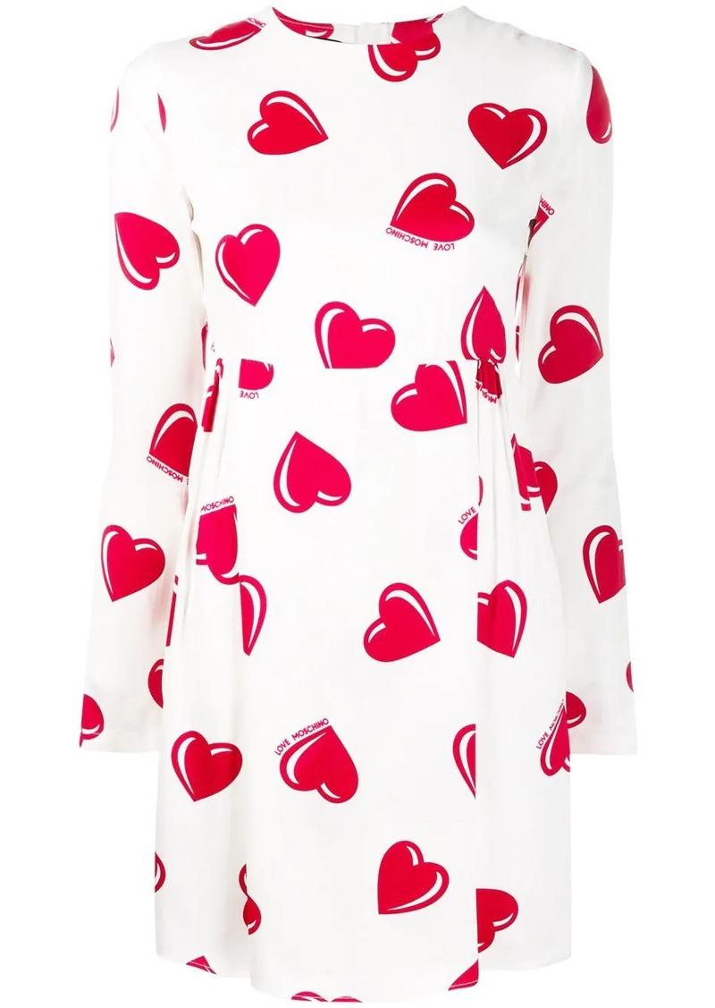 Moschino 2000's heart printed mini dress