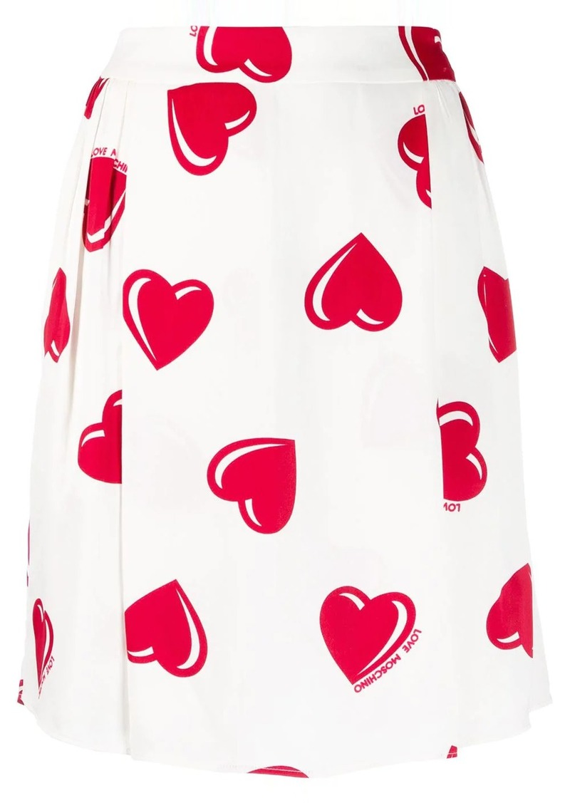 Moschino 2000's heart printed skirt