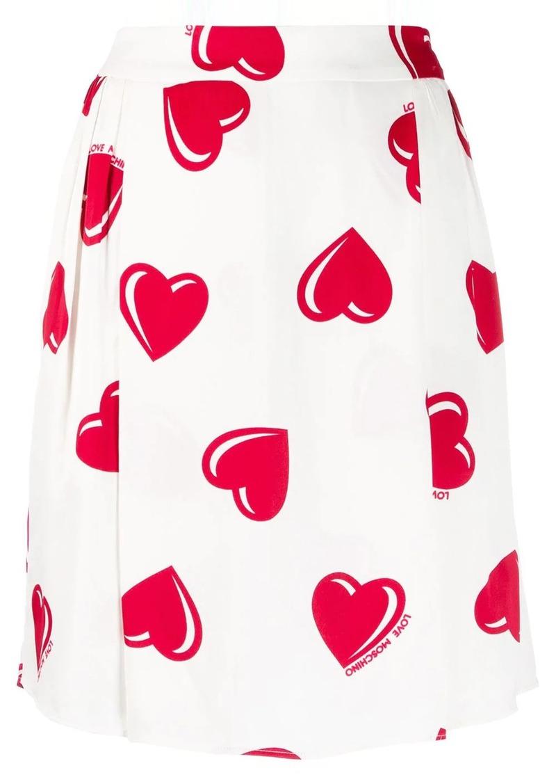 Moschino 2000's heart printed skirt