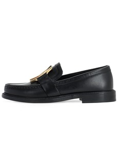 Moschino 25mm Leather Loafers