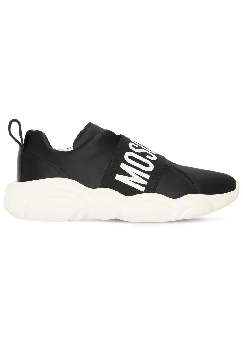 Moschino 30mm Logo Band Satin Sneakers