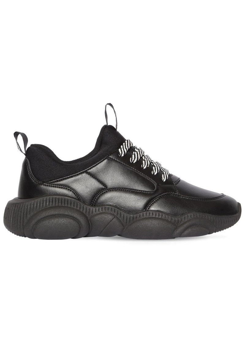 Moschino 30mm Teddy Faux Leather Sneakers