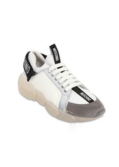 Moschino 30mm Teddy Leather & Mesh Sneakers