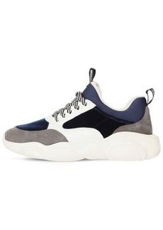 Moschino 30mm Velvet & Suede Sneakers