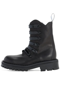 Moschino 50mm Leather Combat Boots