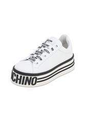 Moschino 50mm Leather Platform Sneakers