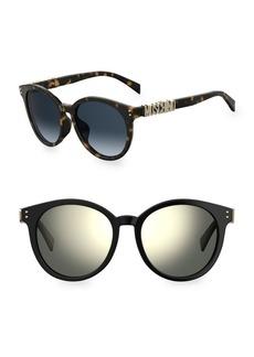 Moschino 54MM Round Sunglasses